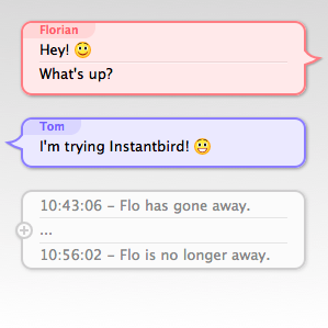 default message themes of Instantbird 0.2