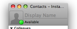screenshot of the contact list with a place holder icon