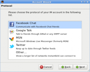 """Top Protocol"" Page in the Account Wizard"